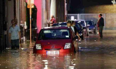Belçika'da aşırı yağışlar yine sele neden oldu