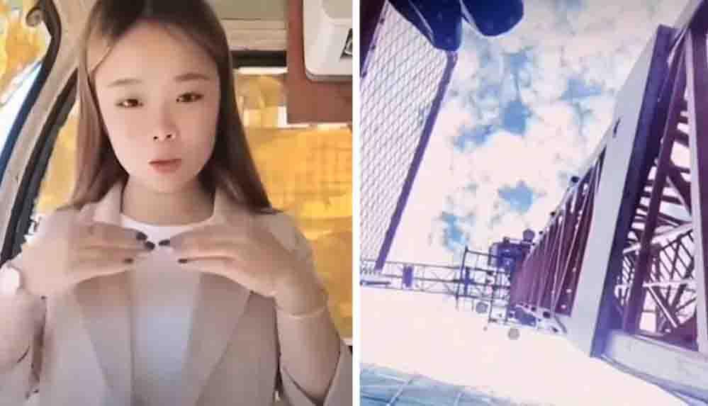 Çinli sosyal medya fenomeni 50 metrelik vinçten düştü