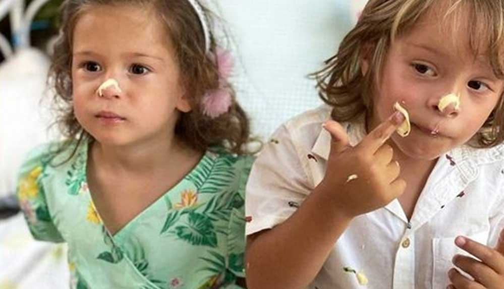 """Doğa Rutkay'ın ikizleri 3 yaşında: """"Başıma gelen en güzel şeylersiniz"""""""
