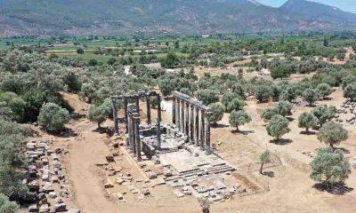 Euromos Antik Kenti'nde 2 bin 500 yıllık heykeller ve yazıt bulundu