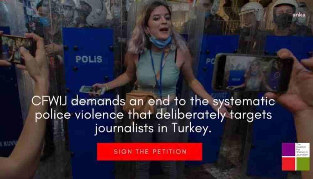 """Gazetecilikte Kadın Koalisyonu'ndan """"gazetecilere polis şiddetine karşı"""" imza kampanyası"""