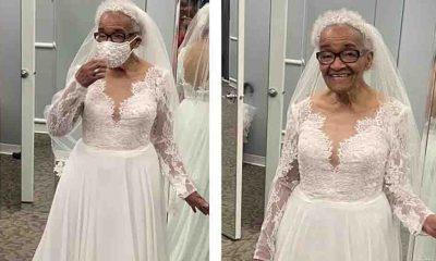 Gelinlik giyemeyen kadının 70 yıl sonra hayali gerçek oldu