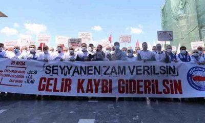 İktidara yakın Memur-Sen zammı protesto etti