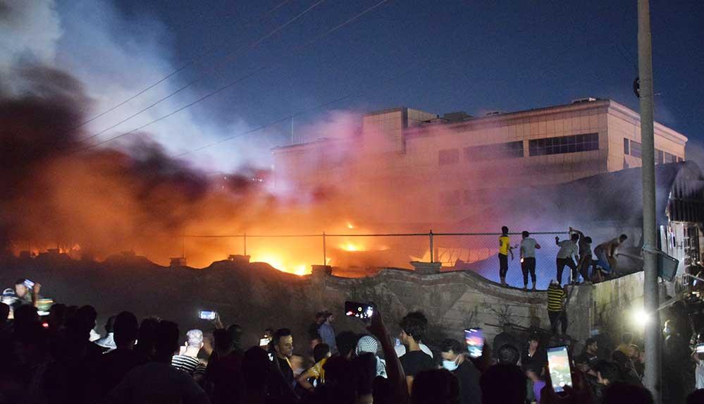 Irak'taki Kovid-19 hastanesinde çıkan yangında ölü sayısı 41'e yükseldi