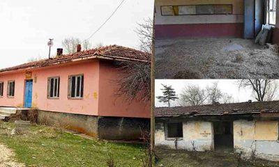 Köy okulları çürümeye terk edildi