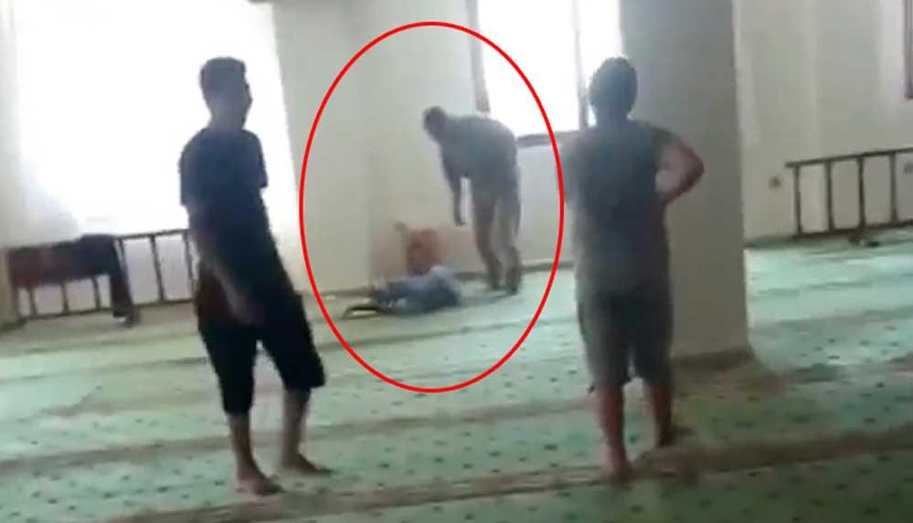 Kuran kursunda cami imamından çocuğa dayak rezaleti