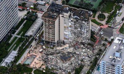 Miami'de çöken 13 katlı binada 128 kişiden hala haber alınamıyor