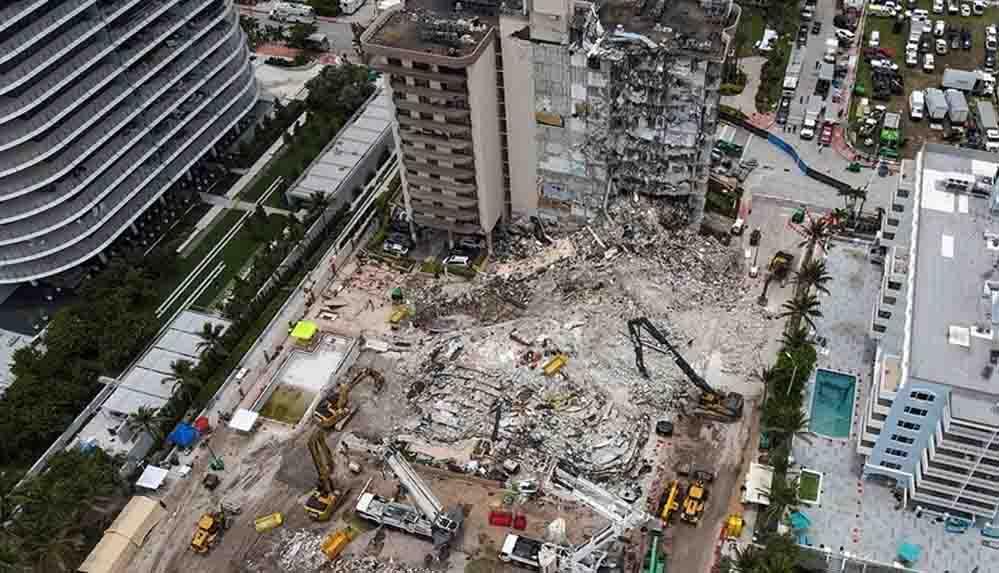 Miami'de çöken binanın enkazında hayatını kaybedenlerin sayısı 97'ye yükseldi
