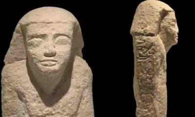 Mısır'dan kaçırılan M.Ö. 2500-2000 yıllarına ait tarihi heykel Hollanda'da bulundu