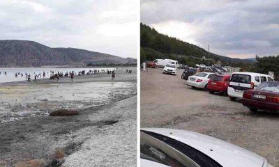 NASA'nın 'ayakkabıyla bile girilmemeli' dediği Salda Gölü'nde tahribat sürüyor!