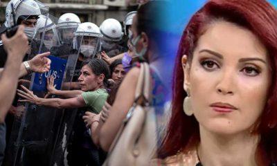 Nagehan Alçı: Kadına karşı şiddeti protesto eden kadınlara şiddet! Yazıklar olsun..