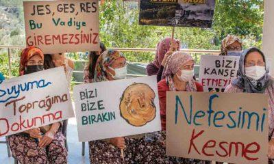 """Orhanlı köylüleri jeotermal santrale karşı mücadele veriyor: """"Orhanlı sahipsiz değildir"""""""