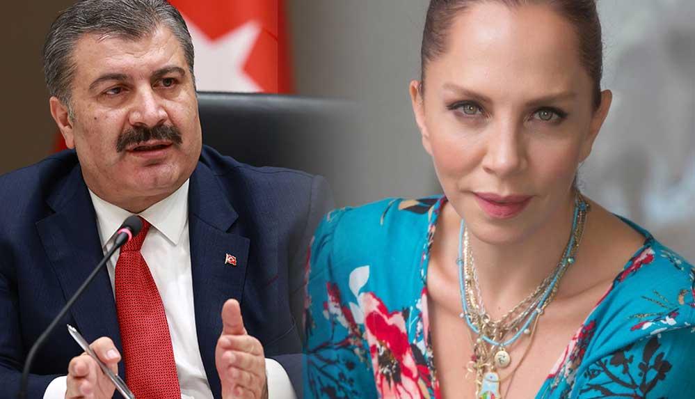 Sağlık Bakanı Koca'dan Sertab Erener'e teşekkür