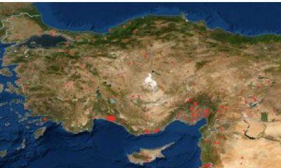Türkiye'deki yangınlar NASA tarafından böyle görüntülendi