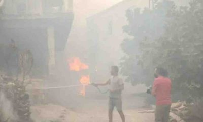 Türkiye'deki yangınlar Kıbrıs'ta da hissedildi: Sokaklara kül yağıyor