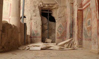 Zeugma Antik Kenti'nde iki kaya odası gün yüzüne çıkarıldı