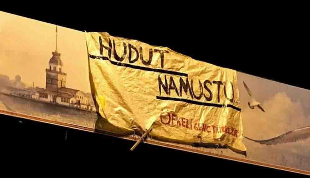 'Hudut Namustur' yazılı pankartı asan 6 genç gözaltına alındı