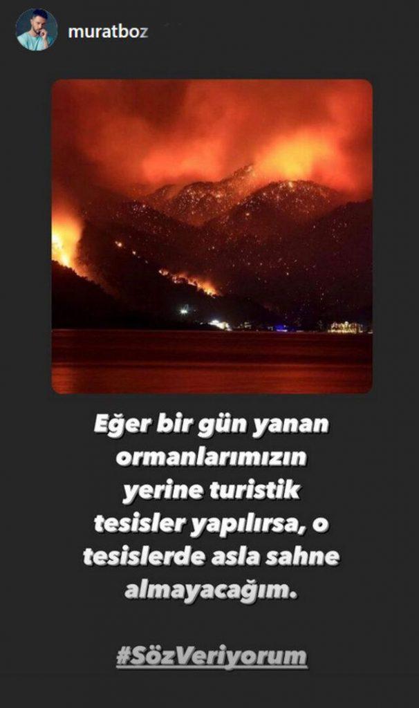 """Şarkıcı Murat Boz 'Söz veriyorum' dedi; """"O tesislerde asla sahne almayacağım"""""""