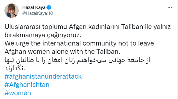 """Sanatçılardan Afgan kadınları için çağrı: """"Onların sesi olma zamanı"""""""