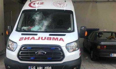 Diş ağrısı için ambulans talep etti, talebi kabul edilmeyince 112 istasyonuna taşla saldırdı