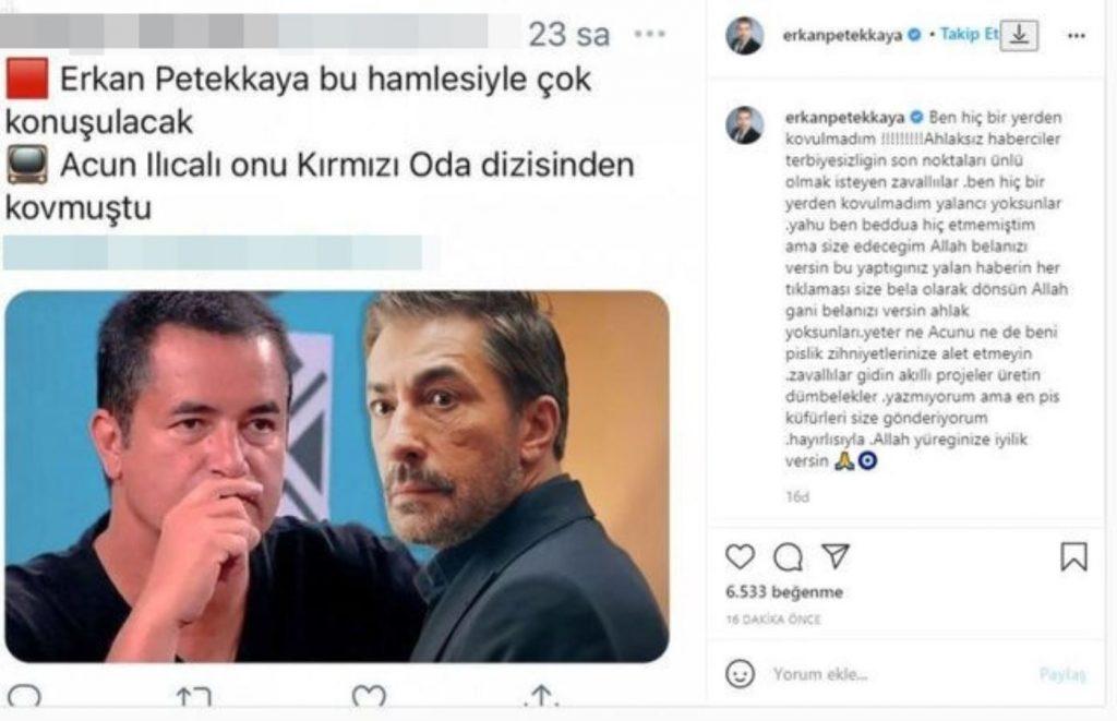 Erkan Petekkaya, Acun Ilıcalı haberine ateş püskürdü: 'En pis küfürleri size gönderiyorum'