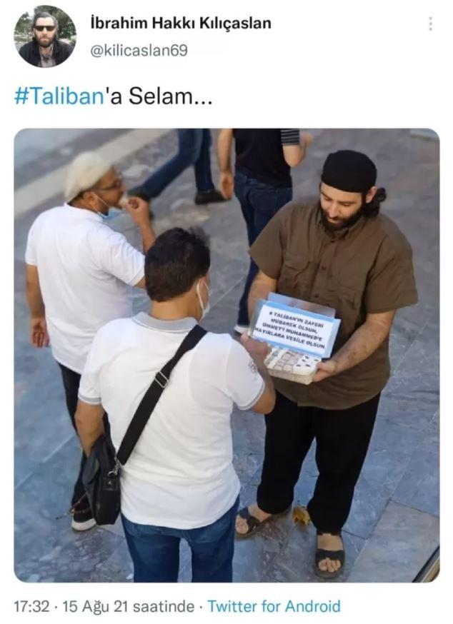 Türkiye'nin göbeğinde Taliban için lokum dağıttı!
