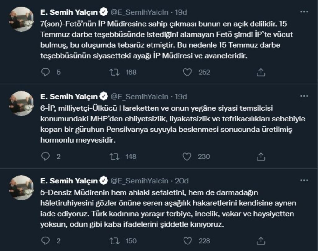 MHP'li Yalçın bu sefer Meral Akşener'i hedef aldı!