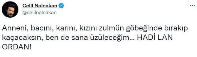 Celil Nalçakan'dan gündeme oturan mülteci yorumu: 'Hadi lan ordan!'