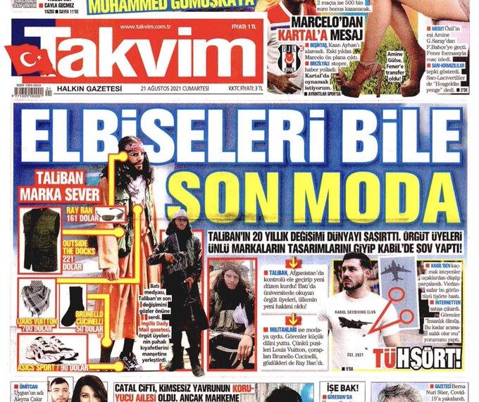 Yandaş gazeteden skandal 'Taliban' manşeti