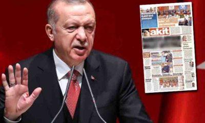 Akit, manşetten Erdoğan'ı hedef aldı!