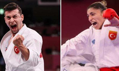 Tokyo 2020'de bronz madalya kazanan Ali Sofuoğlu ve Merve Çoban madalyalarını aldı