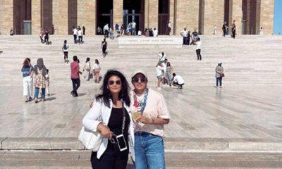 Olimpiyat şampiyonu milli boksör Busenaz Sürmeneli, Anıtkabir'de: Huzuruna geldim Ata'm