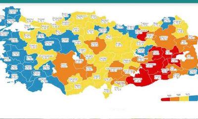 Aşılama haritasında batı illeri 'maviye' büründü
