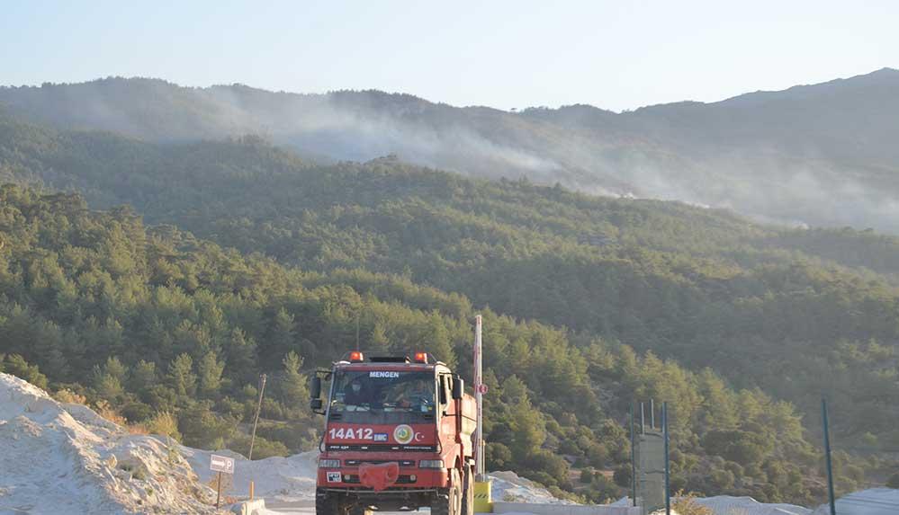 Aydın'da ormanlık alanda çıkan yangın nedeniyle 1 mahalle tahliye edildi