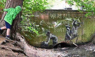 Banksy, Doğu Anglia'daki eserlerin kendisine ait olduğunu doğruladı