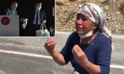 Yangın yerinde köylüden, Erdoğan'a isyan: Bize su vereceğine çay atıyor! Nasıl başkan bu