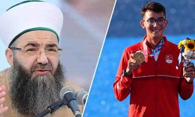 Cübbeli Ahmet'ten, Olimpiyat Şampiyonu Mete Gazoz'a 'sünnet' imalı tebrik mesajı