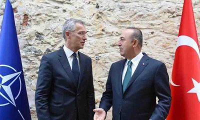 Dışişleri Bakanı Çavuşoğlu, NATO Genel Sekreteri Stoltenberg'le görüştü