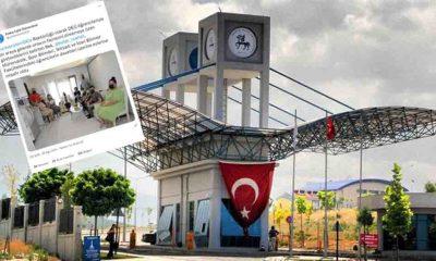 Dokuz Eylül Üniversitesi'nin resmi hesabında Rektör Nükhet Hotar ve öğrencilerin ayakları sansürlendi