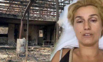 Eleştirilerin odağındaki Tuğba Özay yangın bölgesinden paylaştı: Felç olmamı istediniz!