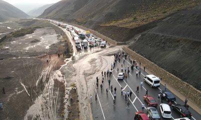 Heyelan dolayısıyla kapanan Erzincan-Sivas kara yolu ulaşıma açıldı