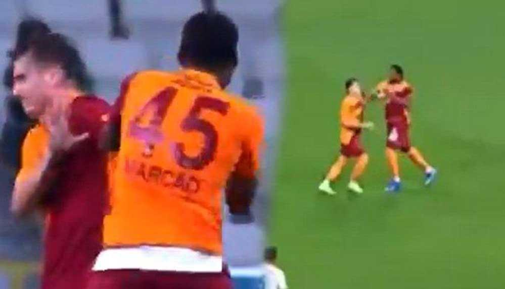 Galatasaray'da maç sırasında inanılmaz olay: Marcao takım arkadaşı Kerem Aktürkoğlu'na saldırdı…