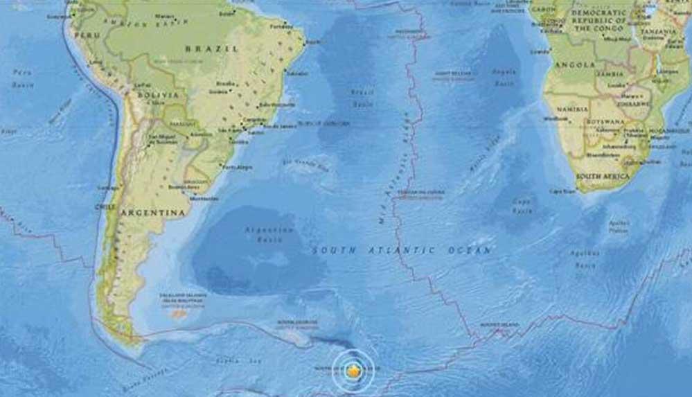 Güney Georgia ve Güney Sandwich Adaları'nda 6,1 büyüklüğünde deprem meydana geldi