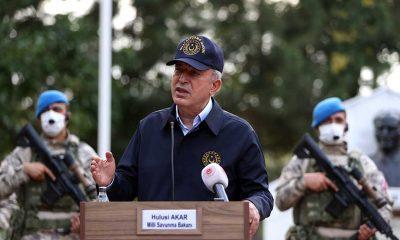 """Milli Savunma Bakanı Hulusi Akar Yunanistan sınırında: """"Hudut namustur"""""""