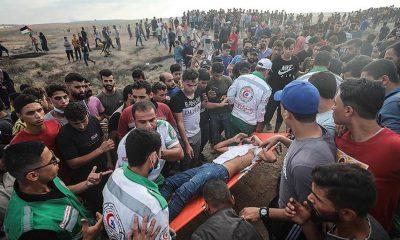 İsrail askerlerinin Gazze sınırında gösteri yapan Filistinlilere müdahalesinde 24 kişi yaralandı