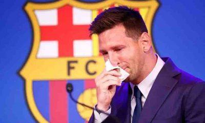 Messi gözyaşlarına hakim olamadı... Barcelona'ya veda ediyor