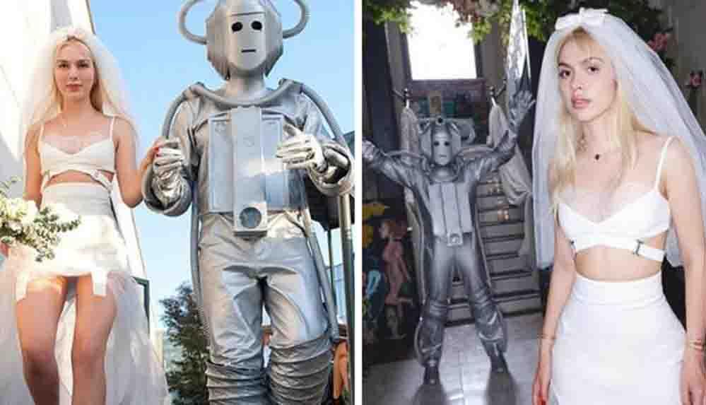Robotla evlenmesi çok konuşulan Aleyna Tilki'den tuhaf sözler: Paralel evrende içime doğdu