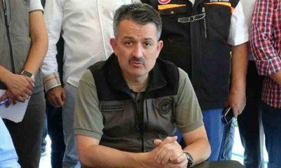 Tarım ve Orman Bakanı Bekir Pakdemirli, Bucak Yangın Yönetim Merkezi'nde konuştu
