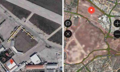 THK uçaklarının uydu görüntülerine sansür!