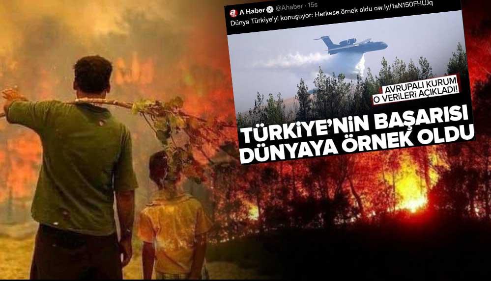 Türkiye orman yangınlarıyla boğuşurken Ahaber'den pes dedirten haber!